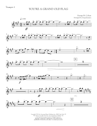 Flag Law You U0027re A Grand Old Flag Bb Trumpet 1 Sheet Music Direct