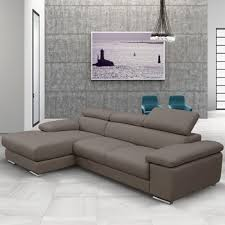 Nicoletti Leather Sofa by Nicoletti Lipari Taupe Leather Sofa Left Facing Costco Uk