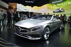 mercedes frankfurt mercedes s looking s class coupe concept in the flesh