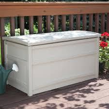suncast deck box with wheels 138435 patio storage at also suncast