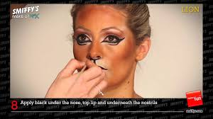 lion face painting make up tutorial youtube