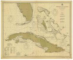 Florida Atlantic Coast Map by Old Nautical Charts General Charts