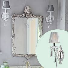crystal sconces for bathroom create a glam hollywood bath crystal sconce bath and create
