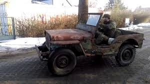 first willys jeep willys mb barn find first driving youtube