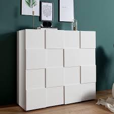 Wohnzimmerschrank Kaufen Ebay Design Highboard Relief 120cm Weiß Hochglanz Schrank Kommode