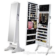 free standing jewellery armoire uk wooden jewelry armoire display cabinet storage case jewelry