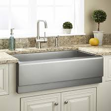 Kitchen Convenient Cleaning With Stainless Steel Farm Sink - American kitchen sinks