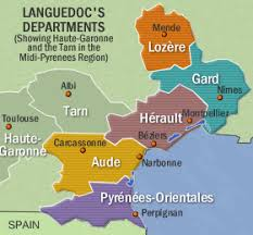 map of perpignan region travel guides and maps for languedoc roussillon