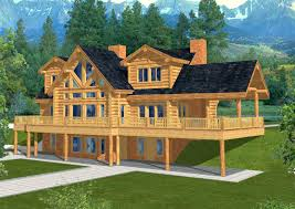 Ranch Home Designs 4560 Sq Ft Majestic Style Log Home Design Coast Mountain