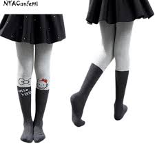 nyaconfetti sylgsk02 children cute tights winter thick warm