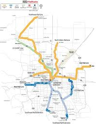 rtd rail map rtd fastracks map existing and future lines denver