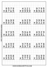 addition with regrouping worksheets i love that they are on grid
