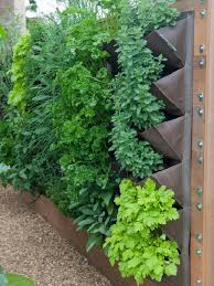 herbs and a few veggies better suited for vertical planting make