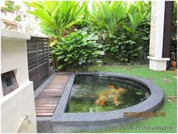 Small Backyard Pond Ideas by Backyards Chic Cute Water Lilies And Koi Fish In Modern Garden
