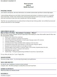 cv example for recruitment consultant lettercv com