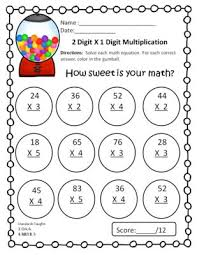 2 digit by 1 digit multiplication worksheets worksheets