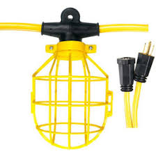 temporary job site lighting temporary cage string lighting construction job site lighting