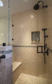 Bathroom With Bronze Fixtures Master Bath With Semi Shower And Antique Bronze Fixtures