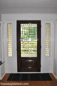 Interior Entry Doors Front Door Stained And Trimmed House Updated