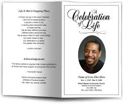 make a funeral program how to make a program for a funeral service designs agency
