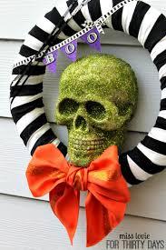 halloween wreath skull halloween wreath