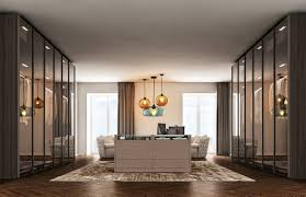 a beautiful and modern dressing room home design the glass doors