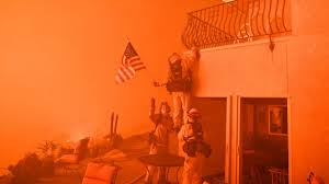 Jihad Flag For Sale California Firefighters Rush Into Flames To Save American Flag