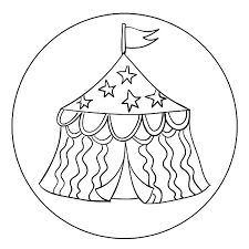 tent coloring pages getcoloringpages