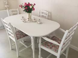 Shabby Chic Dining Table Sets Shabby Chic Table And Chairs Cottage Kitchen Dining Table And 4
