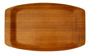 japanese mid century modern bent ayous plywood tray chairish