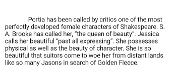 character sketch of portia in 500 words brainly in