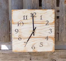 rustic white wood wall clock farmhouse clock primitive home