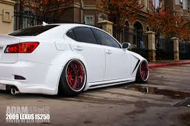 red lexus is 250 2006 adam arms is250 slammedenuff