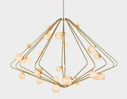 Brushed Brass Light Fixtures by Lindsey Adelman Shop Cherrybomb Cherry Bomb Cage Chandelier