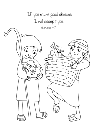 bible key point coloring page cain u0026 abel online preschool and