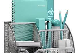 Teal Desk Accessories Silver Desk Accessories Easypag Mesh Office Organizer 9