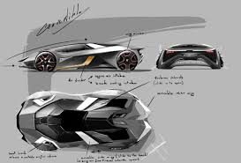 lamborghini sketch lamborghini diamante concept design sketches sketching design