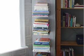 How To Make Invisible Bookshelf How To Make Your Own Invisible Bookshelf Apartment Therapy