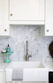 Farm Sink With Backsplash by Our Diy White Kitchen Renovation Quartz Countertops Green