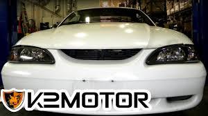 1994 mustang gt headlights k2 motor installation 1994 1998 ford mustang 1