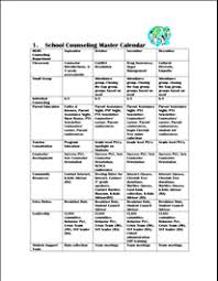 Counseling In Schools Inc Counseling Master Calendar Counselor Materials