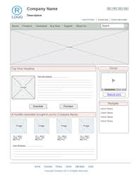 free website wireframe templates for word powerpoint pdf