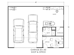 30x40 house floor plans garage w office and workspace true built home pacific