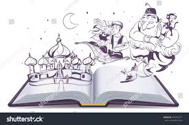 open book story tale magic lamp stock vector 499755271 shutterstock