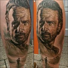 rick grimes portrait fandom tattoos pinterest rick grimes