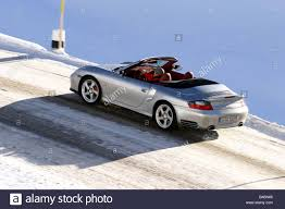porsche 911 snow car porsche 911 turbo convertible model year 2003 silver open
