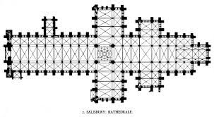 canterbury cathedral layout of salisbury cathedral pic source