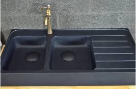 evier cuisine granit noir 120x60 évier granit noir de cuisine en 2 cuves
