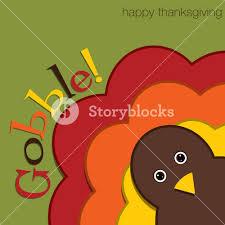 hiding turkey felt thanksgiving card in vector format royalty