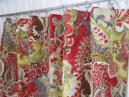 red grey drapes bohemian style curtains boho home decor red